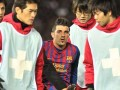 Barcelona striker David Villa breaks left leg
