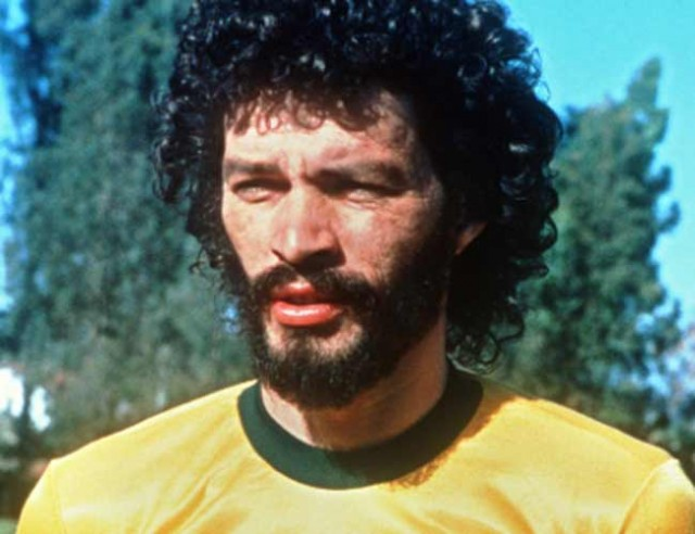 Brazilian soccer star Socrates in