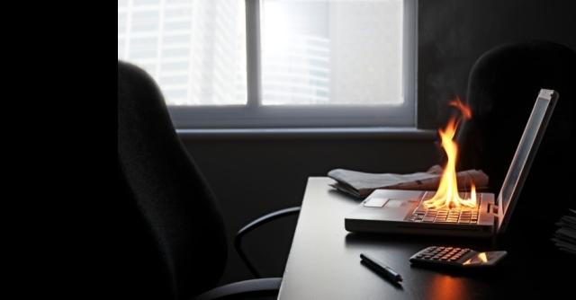 laptop fire hazard