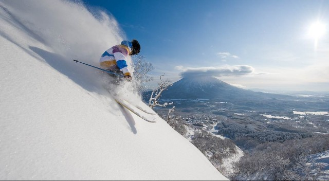Skiing in Niseko, Japan