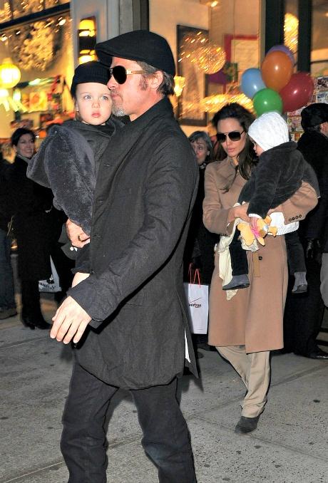 Brad Pitt, Angelina Jolie and Vivienne Jolie-Pitt