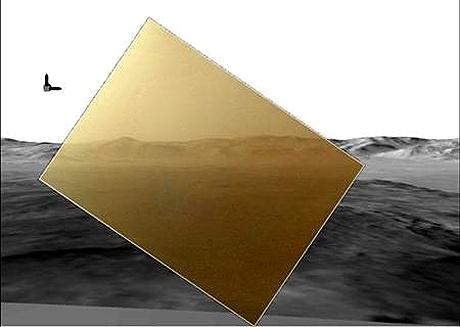 Mars rover Curiosity sends home first colour photo