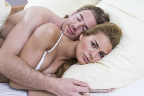 Men fall asleep after sex