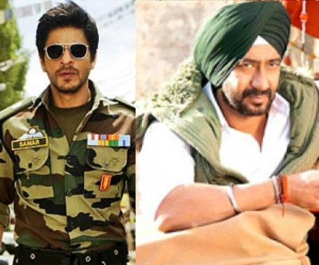 Shah Rukh Khan and Ajay Devgn