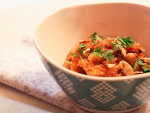 Indian Spiced Spaghetti Squash Pasta