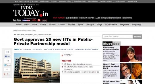 20 New IIITs, Not 20 New IITs