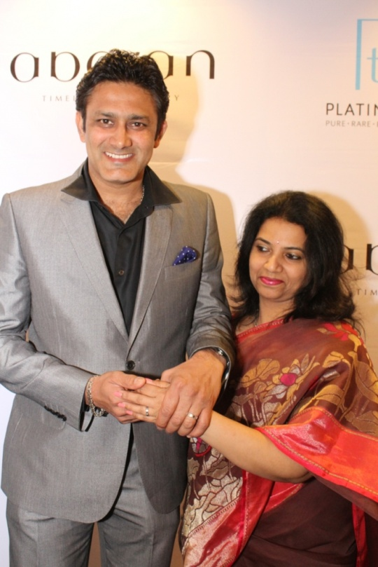 Anil and Chetana Kumble Celebrate their Platinum Day of Love at Abaran