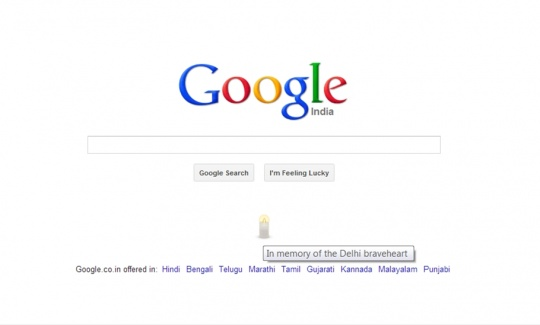 Google India Lights a Candle for Delhi Gang Rape Victim