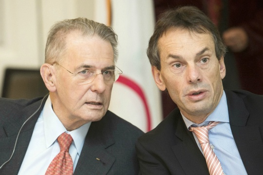 Jacques Rogge and Christophe De Kepper