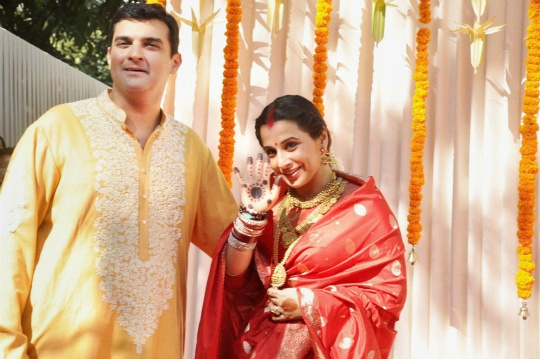 Siddharth Roy Kapur and Vidya Balan