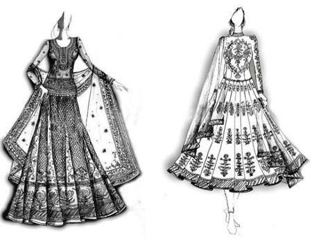 Genelia's wedding dress