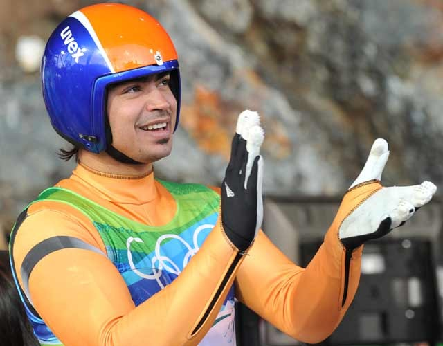 Meet the man who's huge on luge