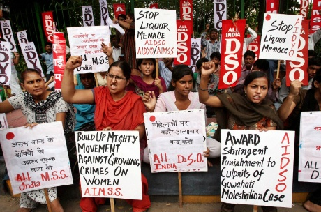 Protest against Guwahati molestation