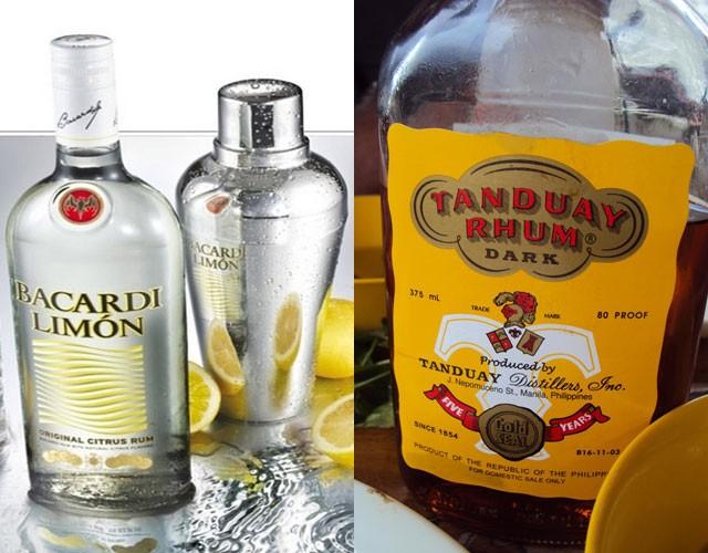 Bacardi (rum) - 19.56m cases and Tanduay (rum) -18.71m cases