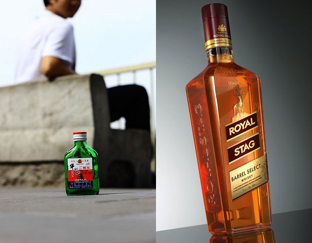 Red Star Er Guo Tou (baijiu) - 13.68m cases and Royal Stag (Indian whisky) - 12.49m cases