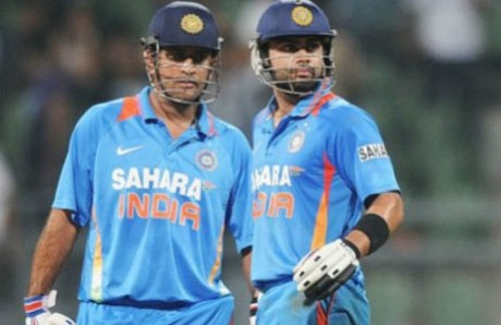 Dhoni tells Kohli to control aggression