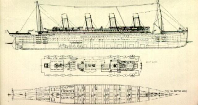 Titanic ship blueprint