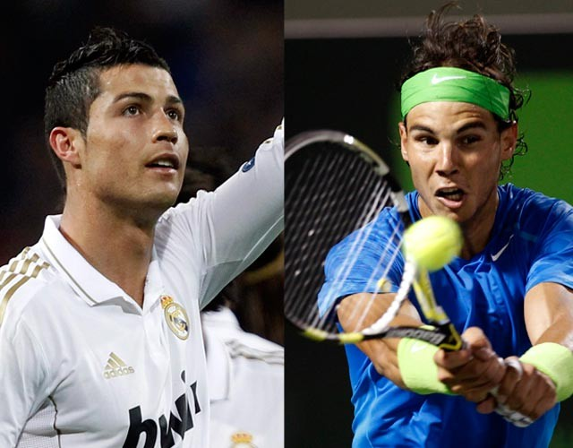 Nadal takes on Ronaldo in tennis match