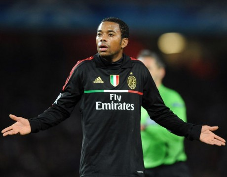 Robinho expected to return to Santos from AC Milan