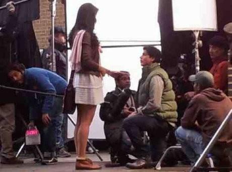 Shah Rukh Khan and Katrina Kaif on YRF sets in London