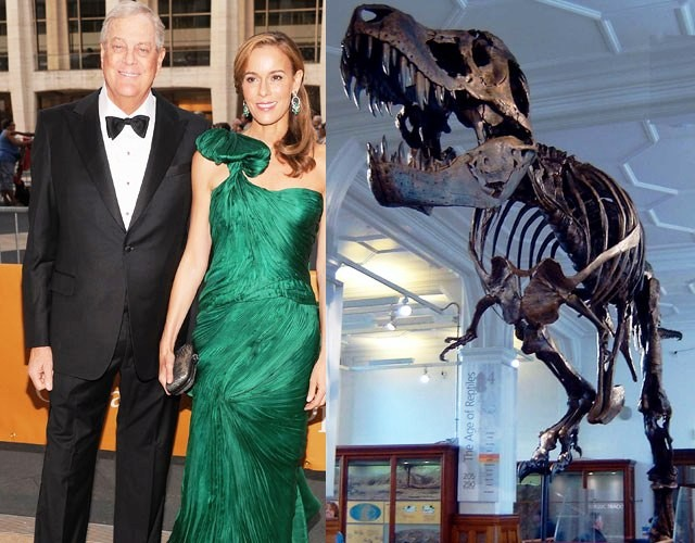 Billionaire David Koch donates $35 million to a dinosaur museum