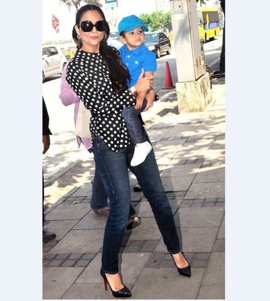Amrita Arora with Azaan