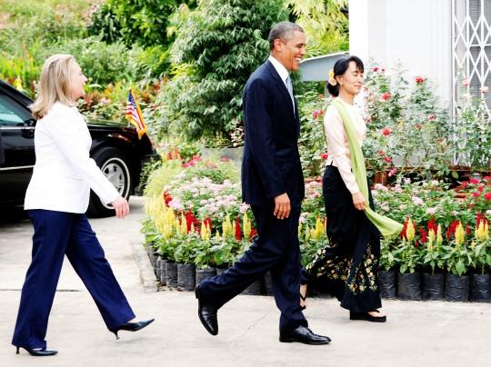 Barack Obama, Aung San Suu Kyi, Hilary Clinton