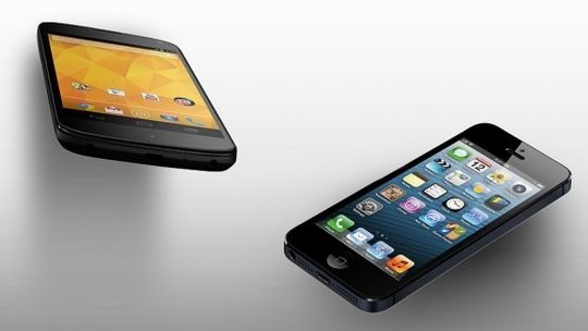 Google Nexus 4 vs iPhone 5
