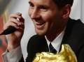 Messi receives Golden Boot as Europe's top scorer