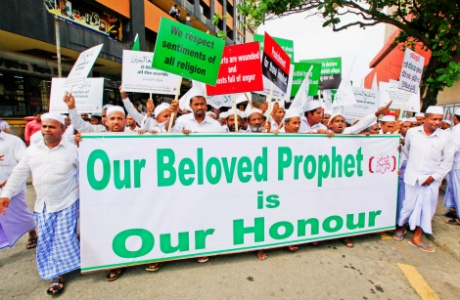 Anti-Islam film protests in Colombo