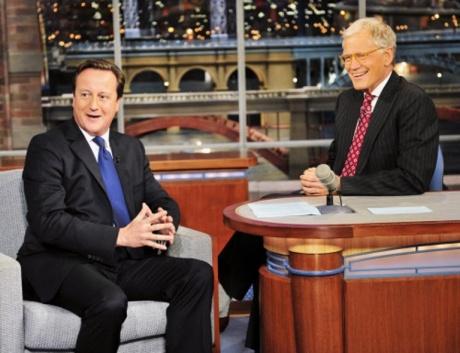 David Cameron David Letterman