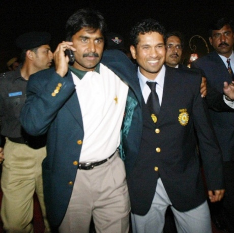 Javed Miandad and Sachin Tendulkar