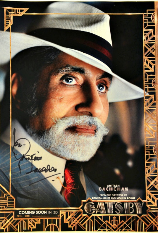 Amitabh Bachchan On The Great Gatsby Poster