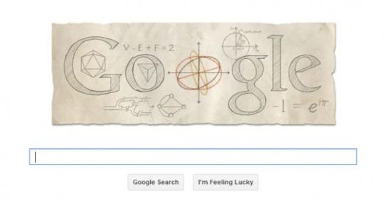 euler google doodle