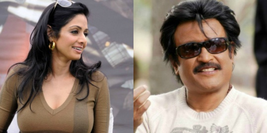 Rajini Bonds with Sridevi!