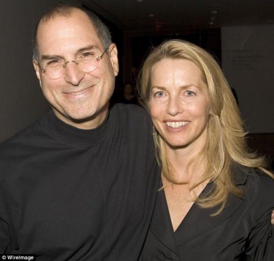 Steve Jobs and Laurene Jobs
