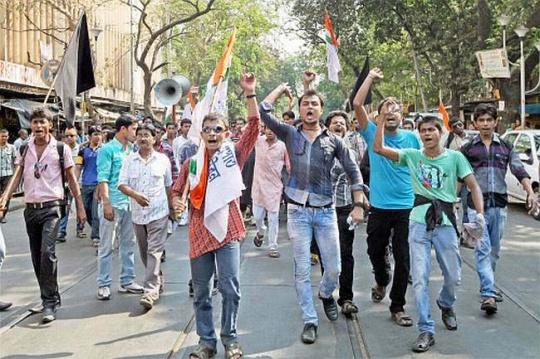 TMCP protest in Kolkata