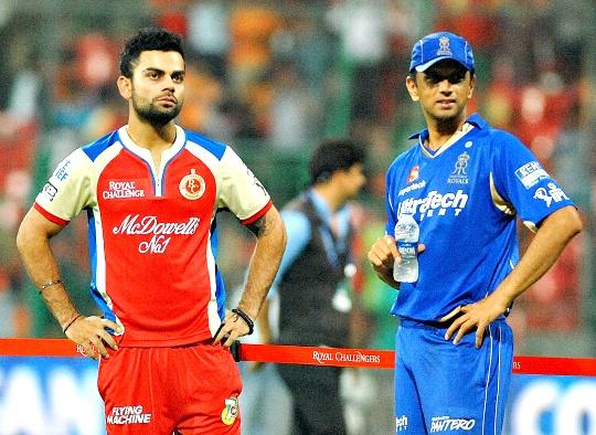 Virat Kohli and Rahul Dravid