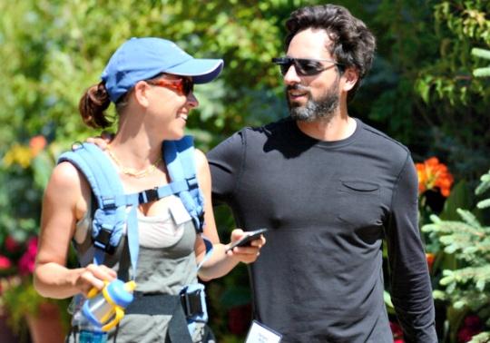 Sergey Brin and Anne Wojcicki
