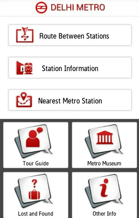 Delhi Metro Mobile App