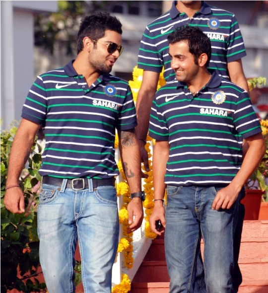 Photo of Gautam Gambhir & his friend  Virat Kohli  -