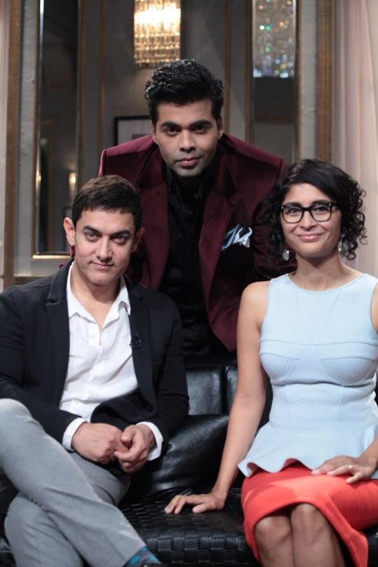 Aamir Khan, Kiran Rao, Karan Johar on Koffee With Karan