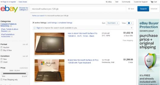 microsoft surface pro ebay