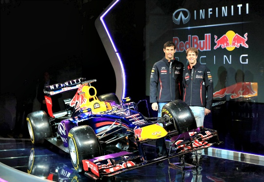 Red Bull Unveils RB9 Car for 2013