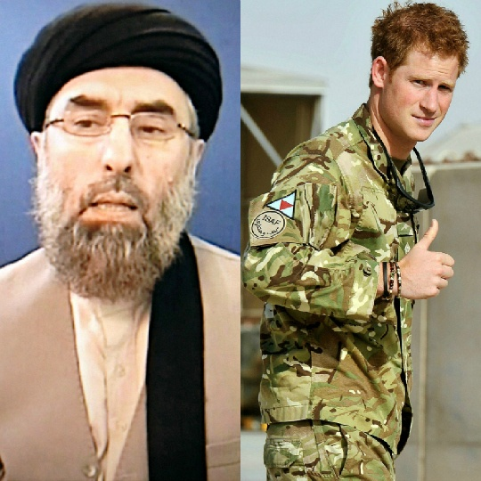 Gulbuddin Hekmatyar and Prince Harry