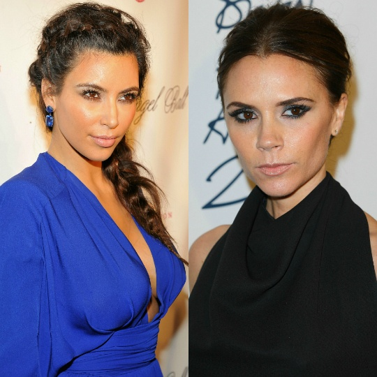 Kim Taking Fashion Inspiration from Victoria Beckham