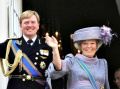 Queen Beatrix and Crown Prince Willem Alexander