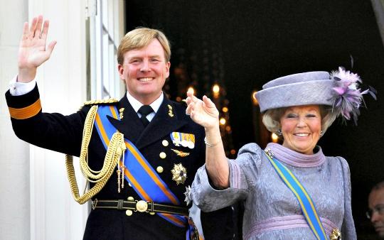 Queen Beatrix and Crown Prince Willem Alexander