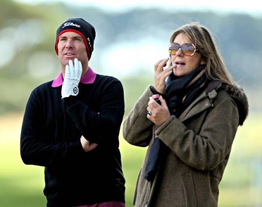 Shane Warne and Elizabeth Hurley