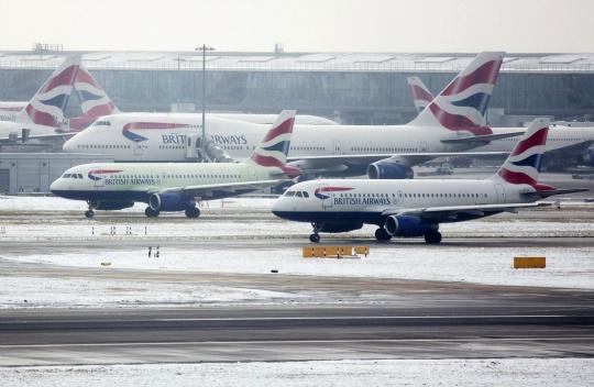 Snow Grounds Flights Across Europe